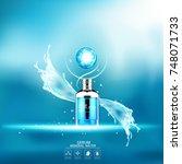mineral water splash serum or... | Shutterstock .eps vector #748071733