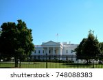 Small photo of Washington DC, USA, September 2016: The White House is the official residence and workplace of the President of the United States. It is located at 1600 Pennsylvania Avenue NW in Washington, D.C.