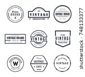 vintage logo badge vector set | Shutterstock .eps vector #748133377
