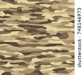 camouflage seamless pattern.... | Shutterstock .eps vector #748146973