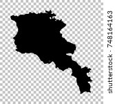 vector map armenia. isolated...   Shutterstock .eps vector #748164163