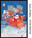 finland   circa 1991  stamp...   Shutterstock . vector #748167193