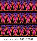 triangle ethnic seamless... | Shutterstock .eps vector #748169137