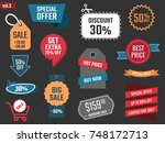 discount banners  offer price... | Shutterstock .eps vector #748172713