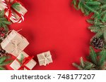 new year's background or... | Shutterstock . vector #748177207