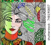beauty of woman  | Shutterstock . vector #748190857