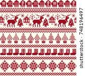 nordic pattern illustration | Shutterstock .eps vector #748196497