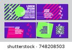 banner design template  ... | Shutterstock .eps vector #748208503