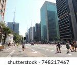 beautiful day in paulista... | Shutterstock . vector #748217467