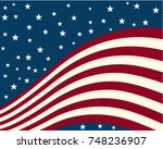 background stylized flag united ... | Shutterstock .eps vector #748236907