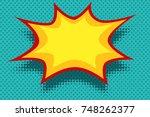 yellow comic book background...   Shutterstock .eps vector #748262377