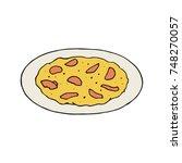 pizza omelette   Shutterstock .eps vector #748270057