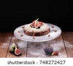 almond ricotta gluten free cake ... | Shutterstock . vector #748272427