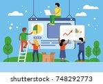 web design and app development...   Shutterstock .eps vector #748292773