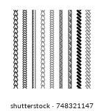 polynesian tattoo style brush... | Shutterstock .eps vector #748321147