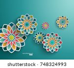 abstract background with 3d... | Shutterstock .eps vector #748324993