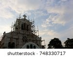 under construction church | Shutterstock . vector #748330717