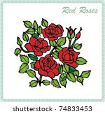 red roses | Shutterstock .eps vector #74833453