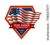 pearl harbor remembrance day.... | Shutterstock .eps vector #748337077