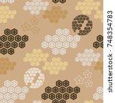 beautiful japanese seamless ... | Shutterstock .eps vector #748354783