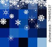 winter background with figure... | Shutterstock .eps vector #748405237