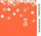 winter background with figure... | Shutterstock .eps vector #748405243