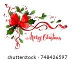 christmas festive ornament for... | Shutterstock .eps vector #748426597