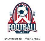 modern professional soccer... | Shutterstock .eps vector #748437583