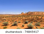 Scenic Glen canyon recreation area in Utah - stock photo