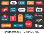 discount coupons and banners ... | Shutterstock .eps vector #748470703
