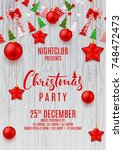 festive flyer for merry... | Shutterstock .eps vector #748472473