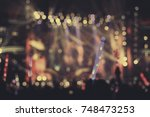 defocused entertainment concert ... | Shutterstock . vector #748473253