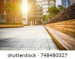 empty hall in the modern office ... | Shutterstock . vector #748480327