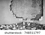Partially Destroyed Wall Insid...