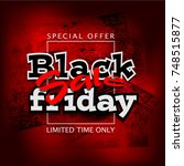 black friday sale background ... | Shutterstock . vector #748515877