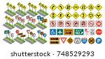 vector road signs | Shutterstock .eps vector #748529293