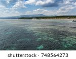 clear sea of the bali    | Shutterstock . vector #748564273