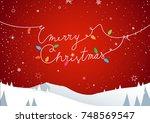 winter mountain landscape...   Shutterstock .eps vector #748569547