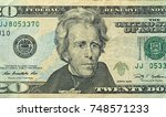 twenty dollars with one note.... | Shutterstock . vector #748571233