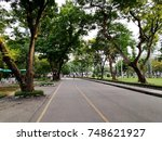 road in lumpini park of bangkok ... | Shutterstock . vector #748621927