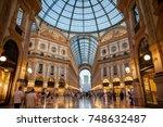 milan  italy   jul 18  2017 ... | Shutterstock . vector #748632487