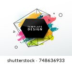 design  abstract banner with a... | Shutterstock .eps vector #748636933