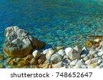 the sea view. calm sea and... | Shutterstock . vector #748652647