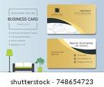 luxury business cards vector... | Shutterstock .eps vector #748654723