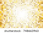 abstract geometric pattern with ... | Shutterstock .eps vector #748663963