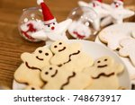 christmas cookies and decoration | Shutterstock . vector #748673917