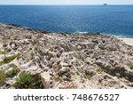 coast of malta near blue grotto | Shutterstock . vector #748676527