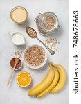 ingredients for breakfast ... | Shutterstock . vector #748678663