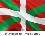 basque spain coutry flag waving ... | Shutterstock . vector #748691893