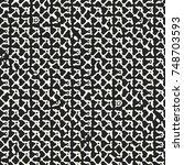 abstract distorted grid motif... | Shutterstock .eps vector #748703593
